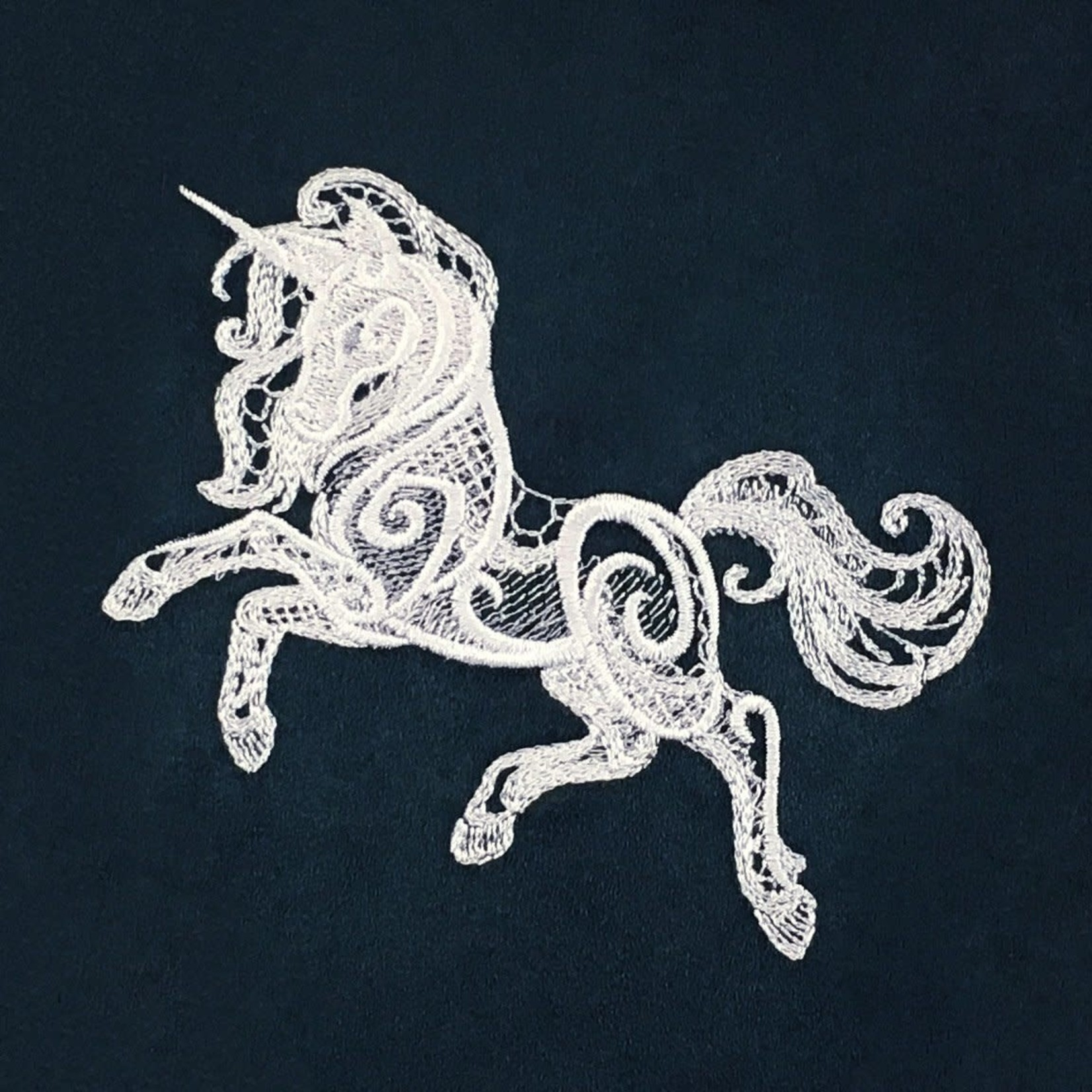 Red King Co Dice Bag Embroidered Baroque Unicorn