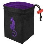 Red King Co Dice Bag: Embroidered Baroque Cat