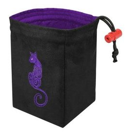 Red King Co Dice Bag Embroidered Baroque Cat