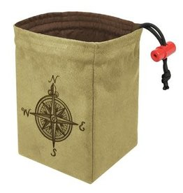 Red King Co Dice Bag Embroidered: Compass Rose