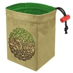 Red King Co Dice Bag Embroidered Twisted Tree