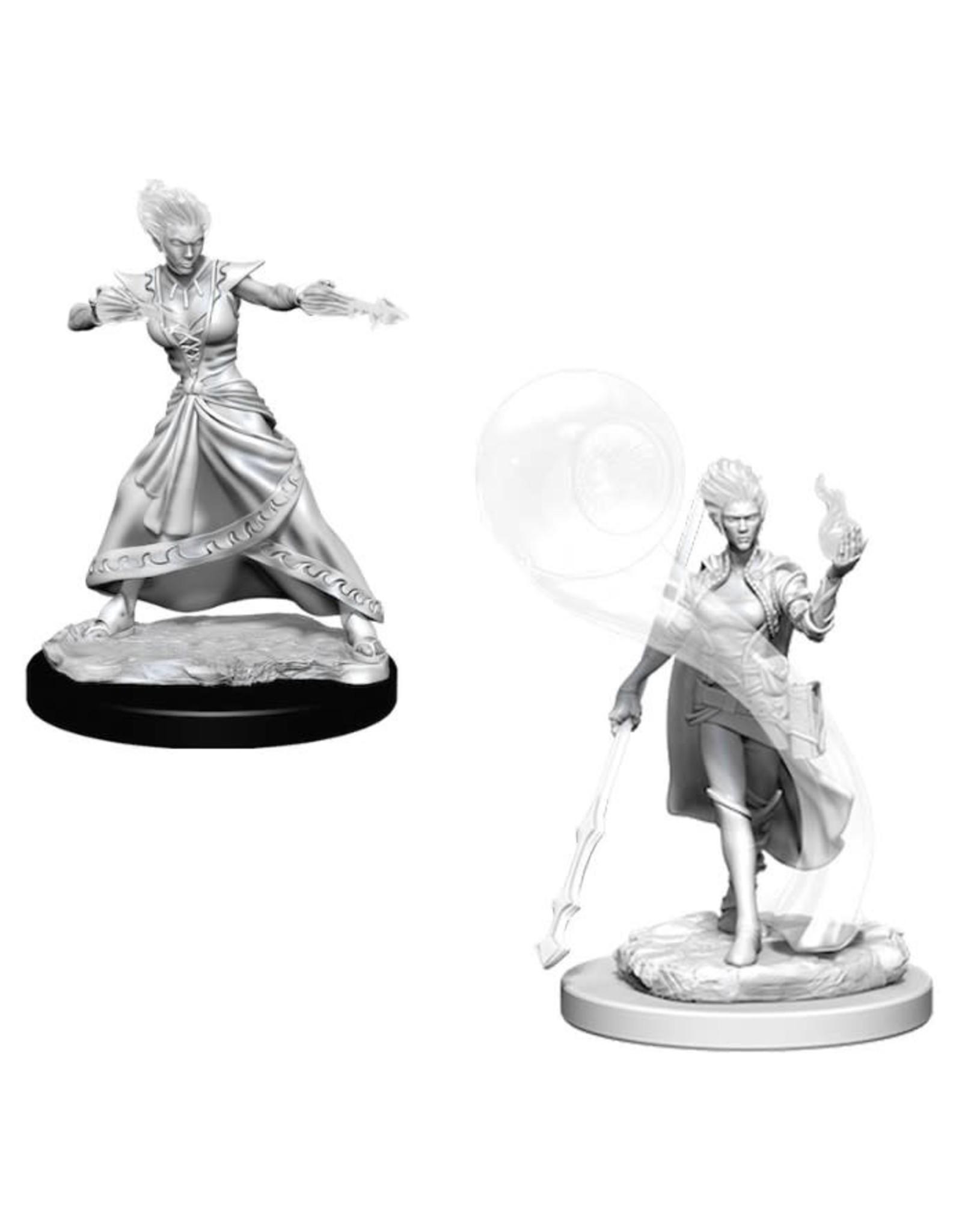 WizKids D&D Nozlur's Marvelous Miniatures (unpainted): Fire Genasi Wizard (female)