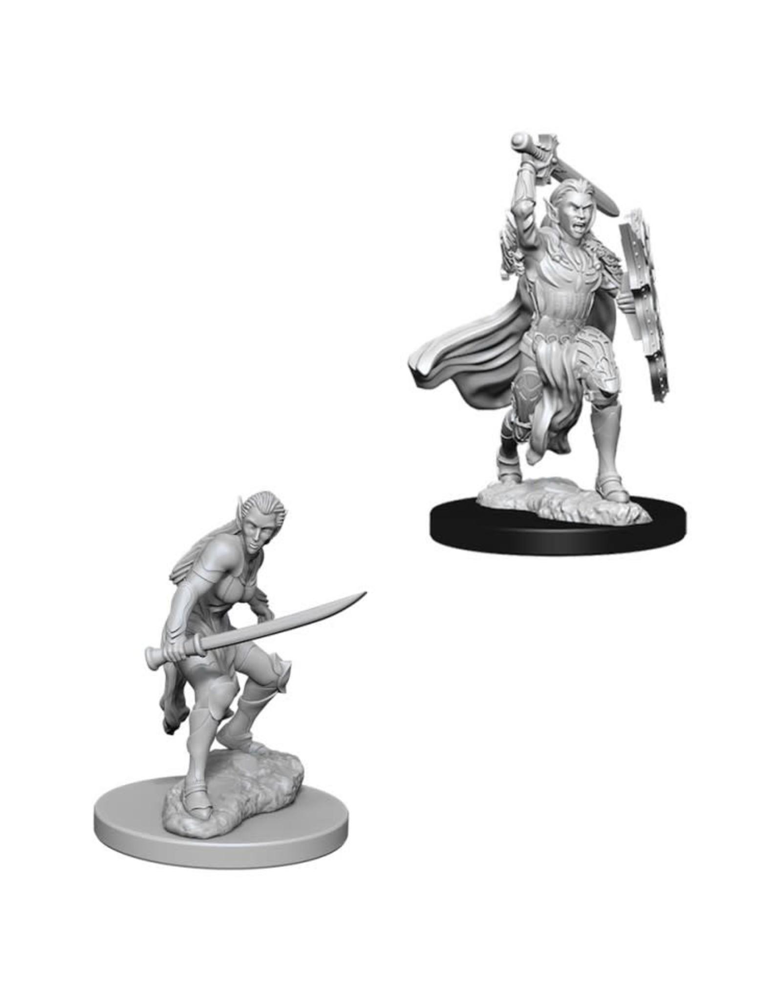 WizKids D&D Nolzur's Marvelous Miniatures (unpainted): Elf Fighter (female)