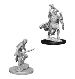 WizKids D&D Minis (unpainted): Elf Fighter (female) Wave 6, 73385