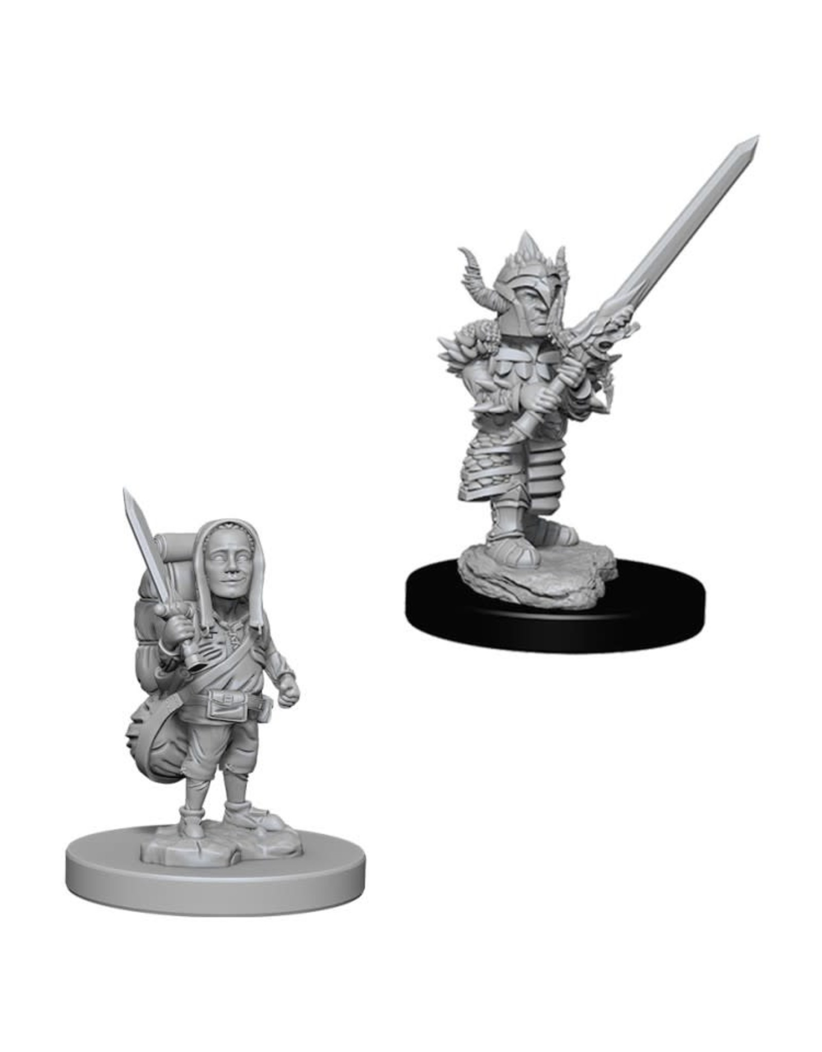 WizKids D&D Minis (unpainted): Halfling Fighter (male) Wave 6, 73386