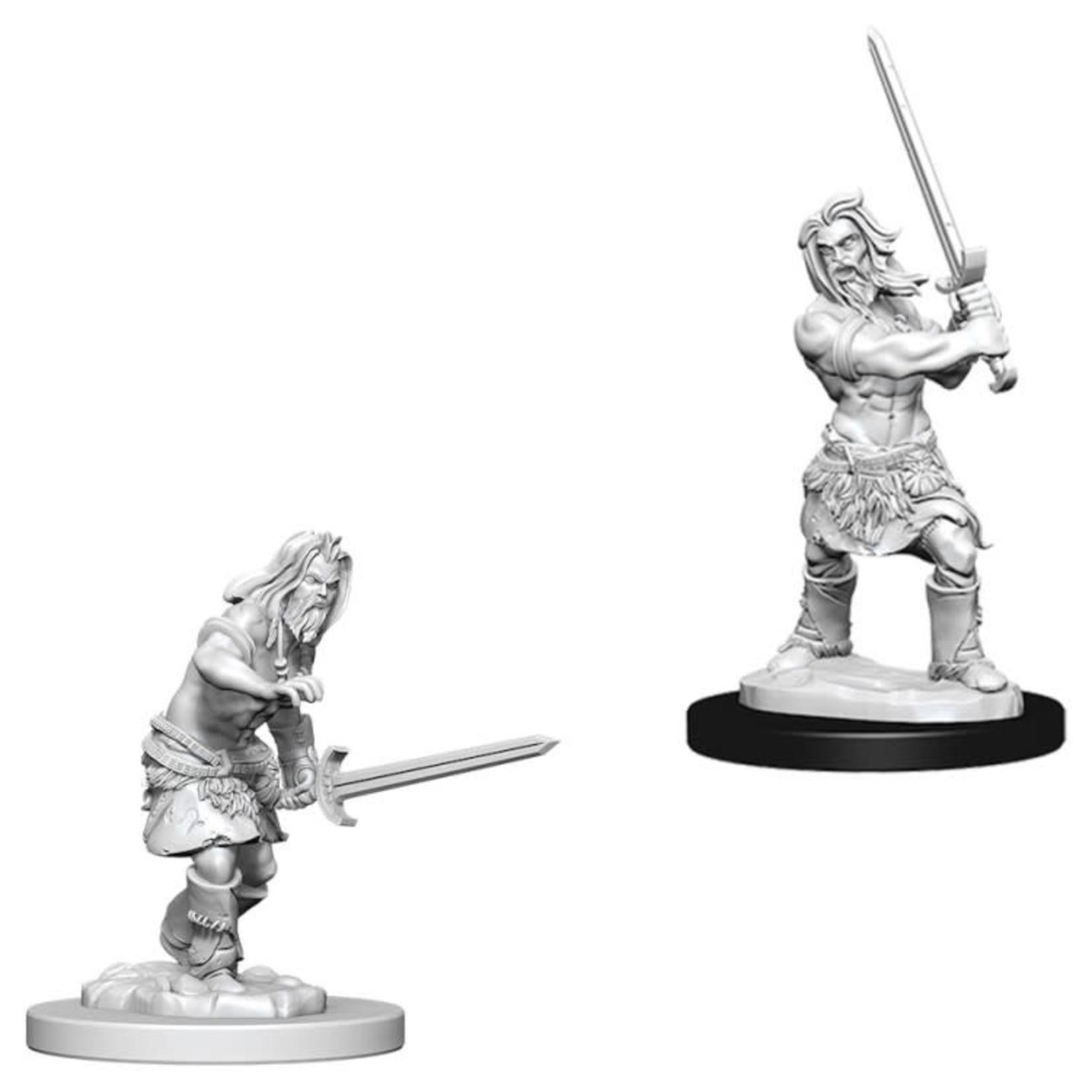 WizKids Pathfinder Minis (unpainted): Human Barbarian (male) Wave 6, 73413