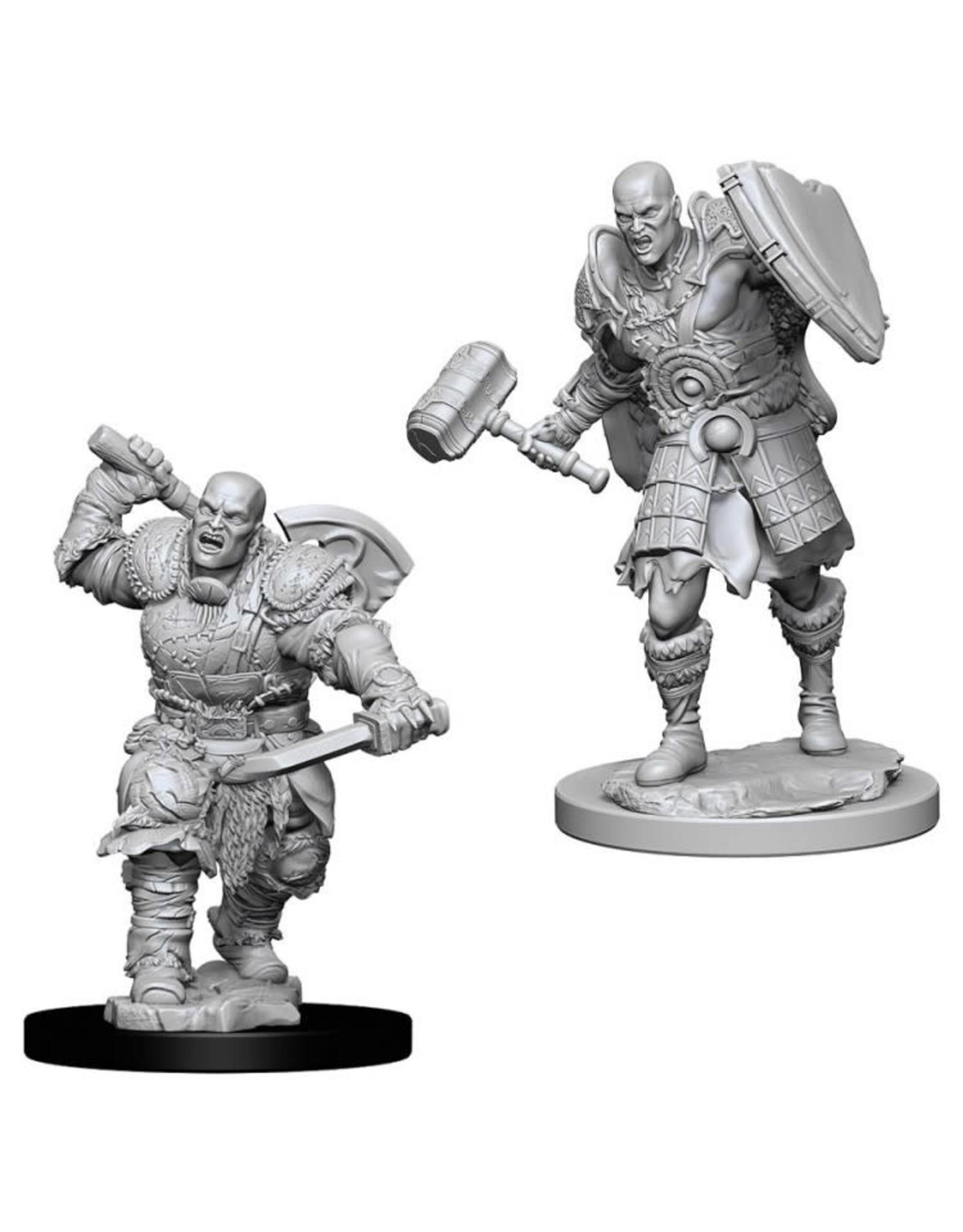 WizKids D&D Nolzur's Marvelous Miniatures (unpainted): Goliath Fighter (male)