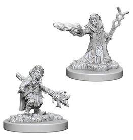 WizKids D&D Minis (unpainted): Gnome Wizard (female)