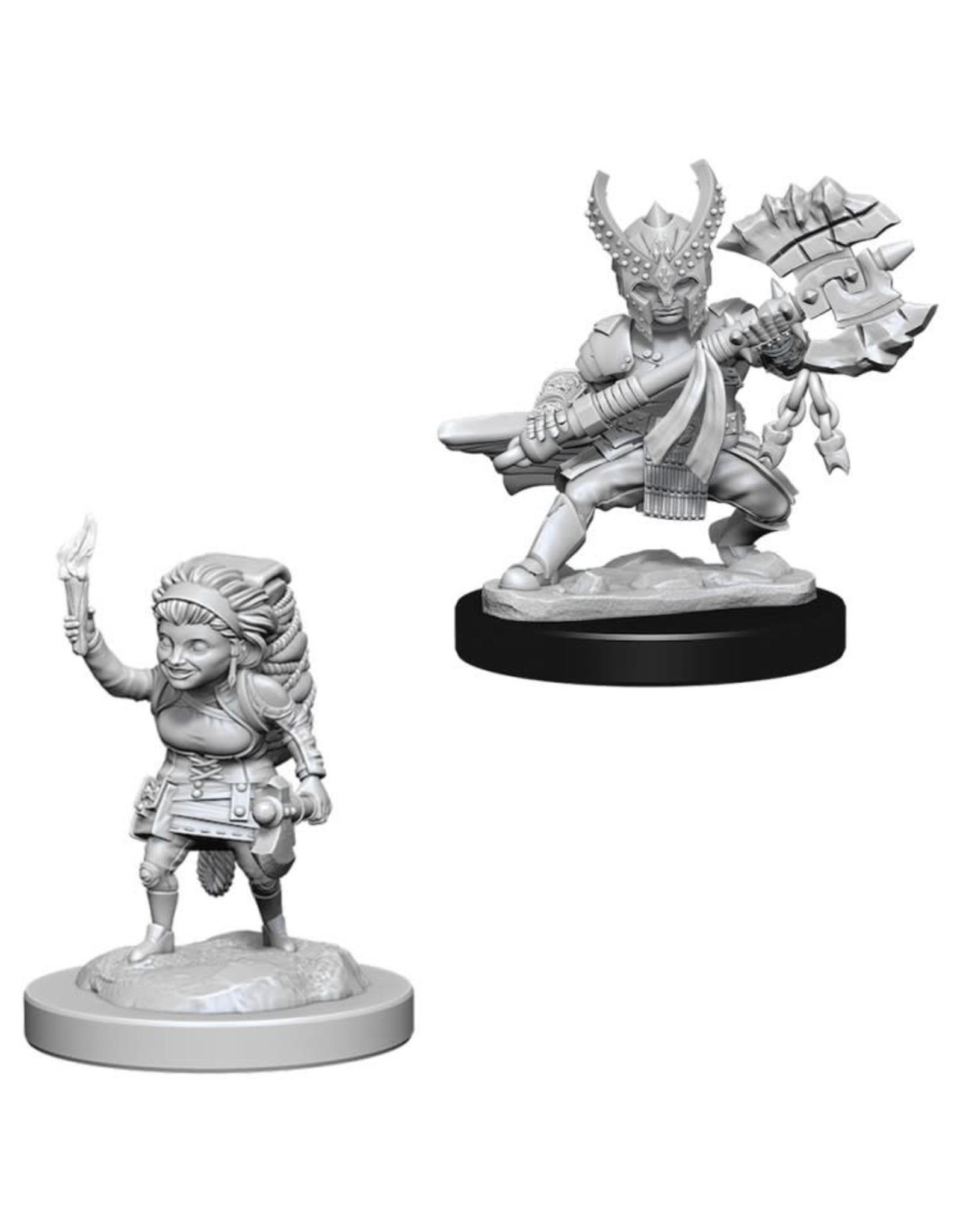 WizKids D&D Nolzur's Marvelous Miniatures (unpainted): Halfling Fighter (female)