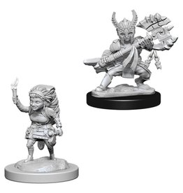 WizKids D&D Minis (unpainted): Halfling Fighter (female) Wave 6, 73387