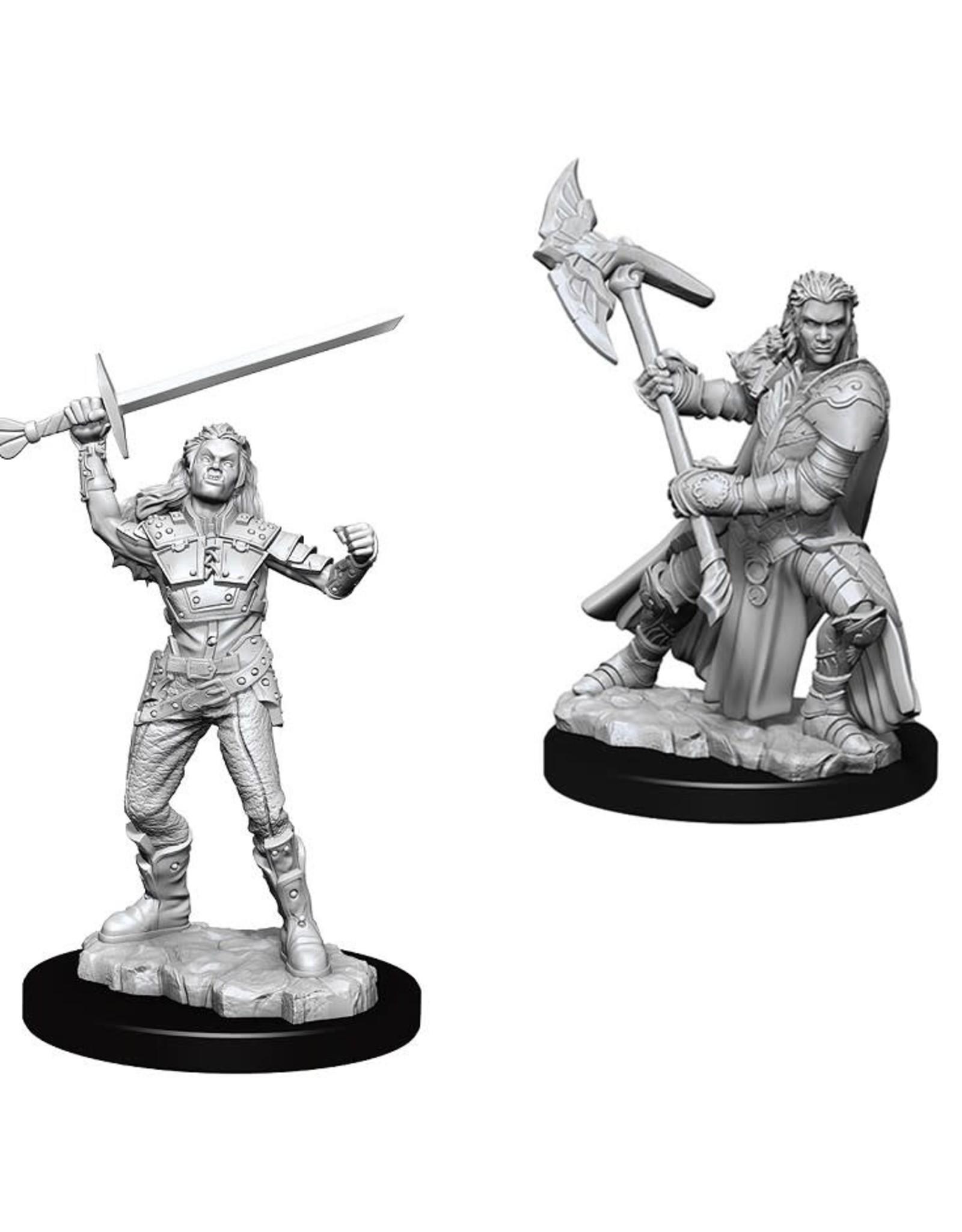 WizKids D&D Nolzur's Marvelous Miniatures (unpainted): Half-Orc Fighter (female)