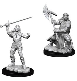 WizKids D&D Minis (unpainted): Half-Orc Fighter (female) Wave 7, 73542