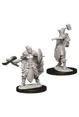 WizKids D&D Nolzur's Marvelous Miniatures (unpainted): Half-Orc Barbarian (female)