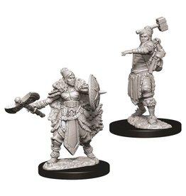 WizKids D&D Minis (unpainted): Half-Orc Barbarian (female)