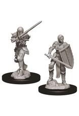 WizKids D&D Nolzur's Marvelous Miniatures (unpainted): Human Fighter (female)