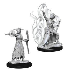 WizKids D&D Minis (unpainted): Human Warlock (female)