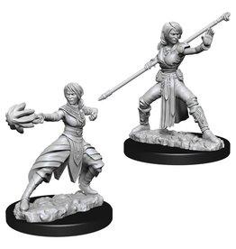 WizKids D&D Minis (unpainted): Half-Elf Monk (female)
