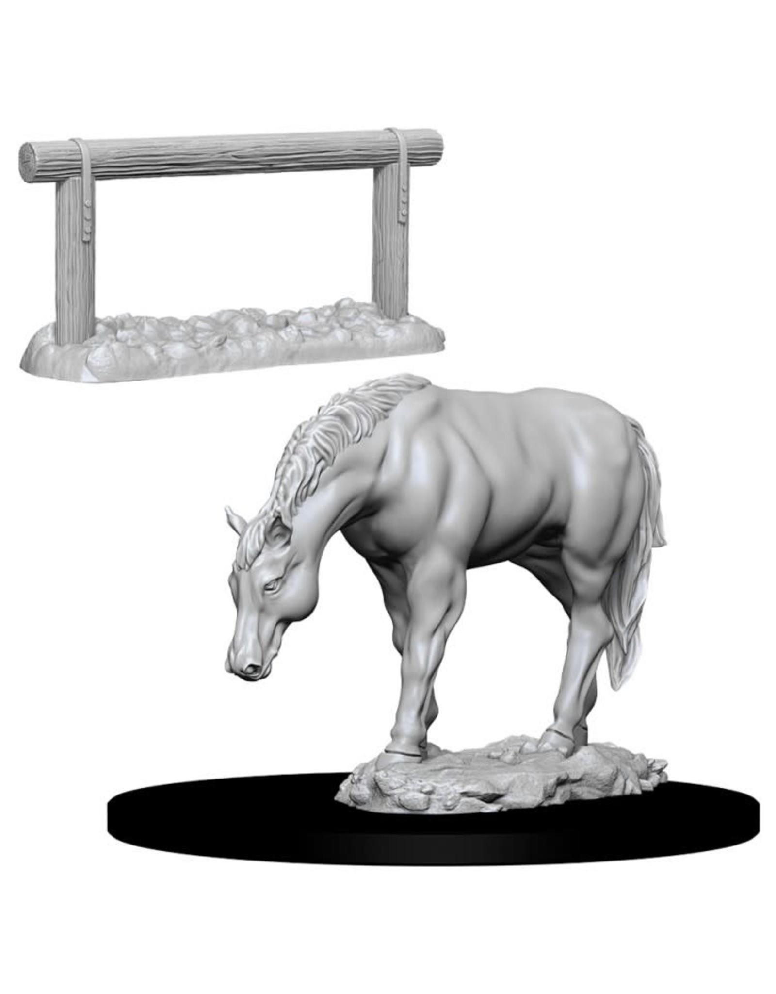 WizKids D&D Minis (unpainted): Horse & Hitch Wave 10, 73862