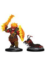 WizKids D&D Minis Wardlings: Fire Orc & Fire Centipede W4 (Painted)