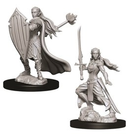 WizKids D&D Minis (unpainted): Elf Paladin (female) Wave 9, 73706