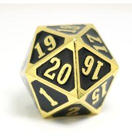Die Hard Dice DHD: Roll Down D20 Shiny Gold w/ Black