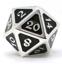 Die Hard Dice DHD: Dire D20 Mythica Platinum Onyx