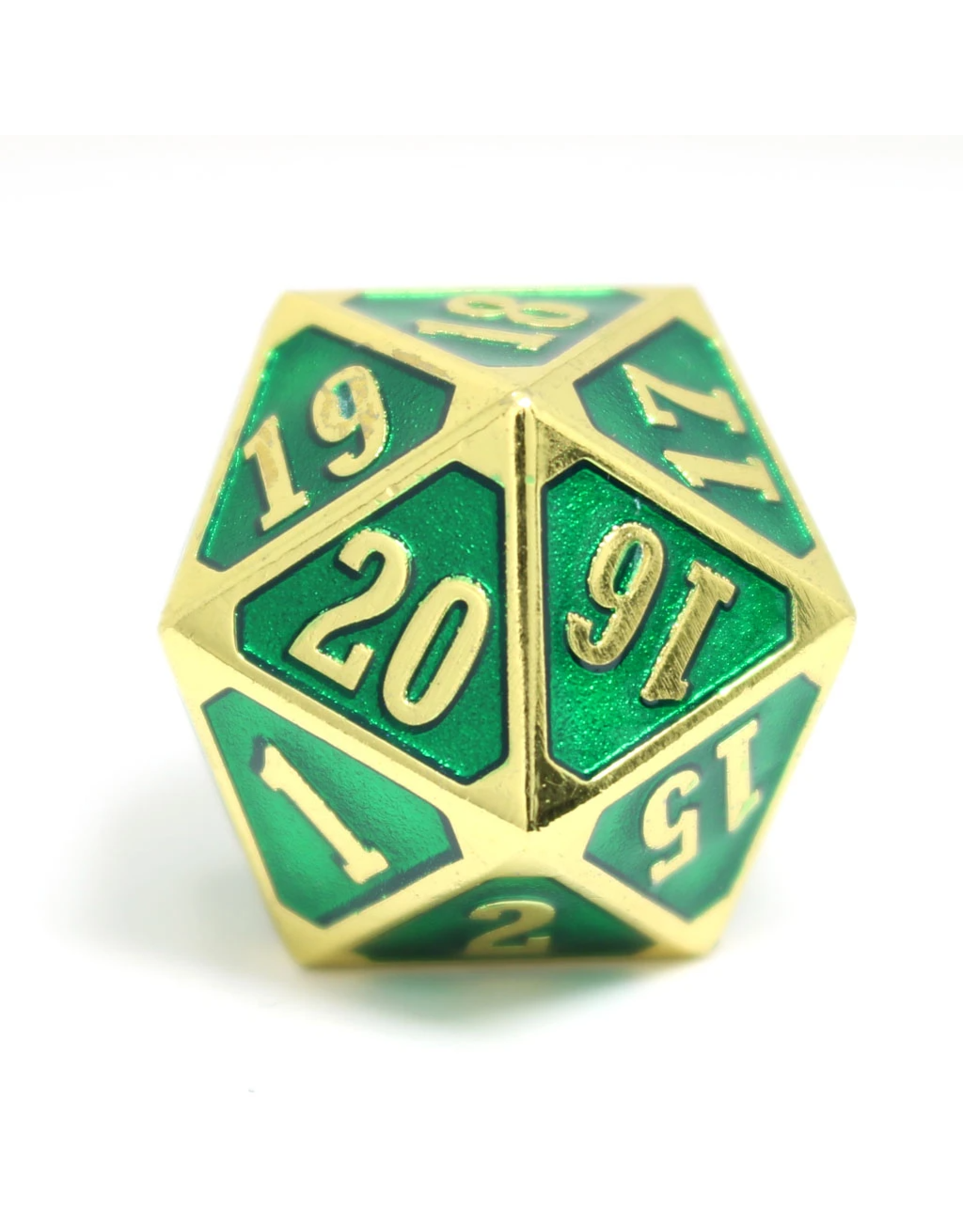Die Hard Dice Die Hard Dice: Roll Down D20 Shiny Gold Emerald