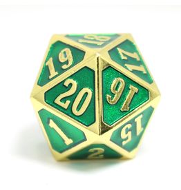 Die Hard Dice DHD: Roll Down D20 Shiny Gold Emerald