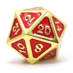 Die Hard Dice Dire d20 Die: Mythica Gold Ruby
