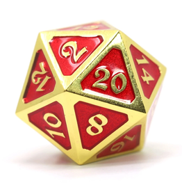 Die Hard Dice Dire d20 Die: Mythica Gold Ruby