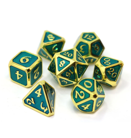 Die Hard Dice DHD: 7-Set Mythica Gold Aquamarine