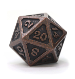 Die Hard Dice DHD: Dire d20 Mythica Dark Copper