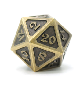 Die Hard Dice DHD: Dire d20 Mythica Battleworn Gold