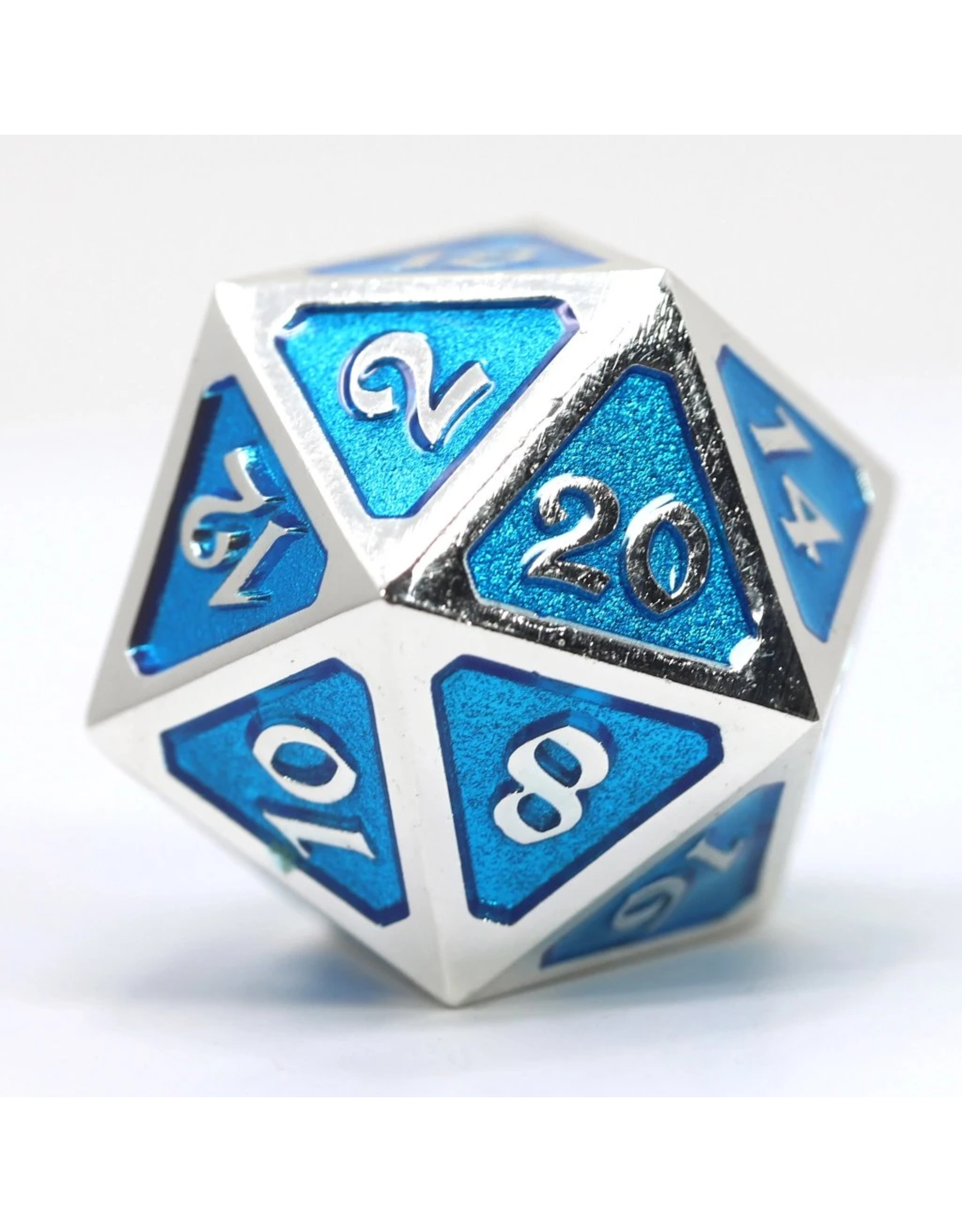Die Hard Dice Die Hard Dice: Dire d20 Mythica Platinum Aquamarine