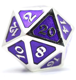 Die Hard Dice DHD: Dire d20 Mythica Platinum Amethyst