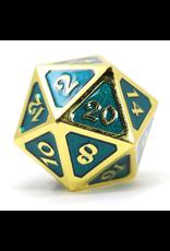 Die Hard Dice Die Hard Dice: Dire d20 Mythica Gold Aquamarine