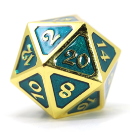 Die Hard Dice DHD: Dire d20 Mythica Gold Aquamarine