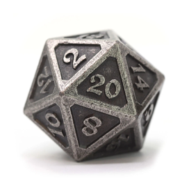 Die Hard Dice DHD: Dire d20 Mythica Dark Silver