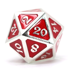 Die Hard Dice DHD: Dire d20 Mythica Platinum Ruby