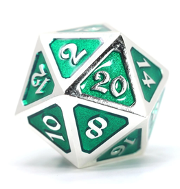 Die Hard Dice DHD: Dire d20 Mythica Platinum Emerald