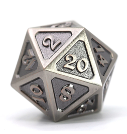 Die Hard Dice DHD: Dire d20 Mythica Battleworn Silver