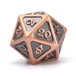 Die Hard Dice Dire d20 Die: Mythica Battleworn Copper