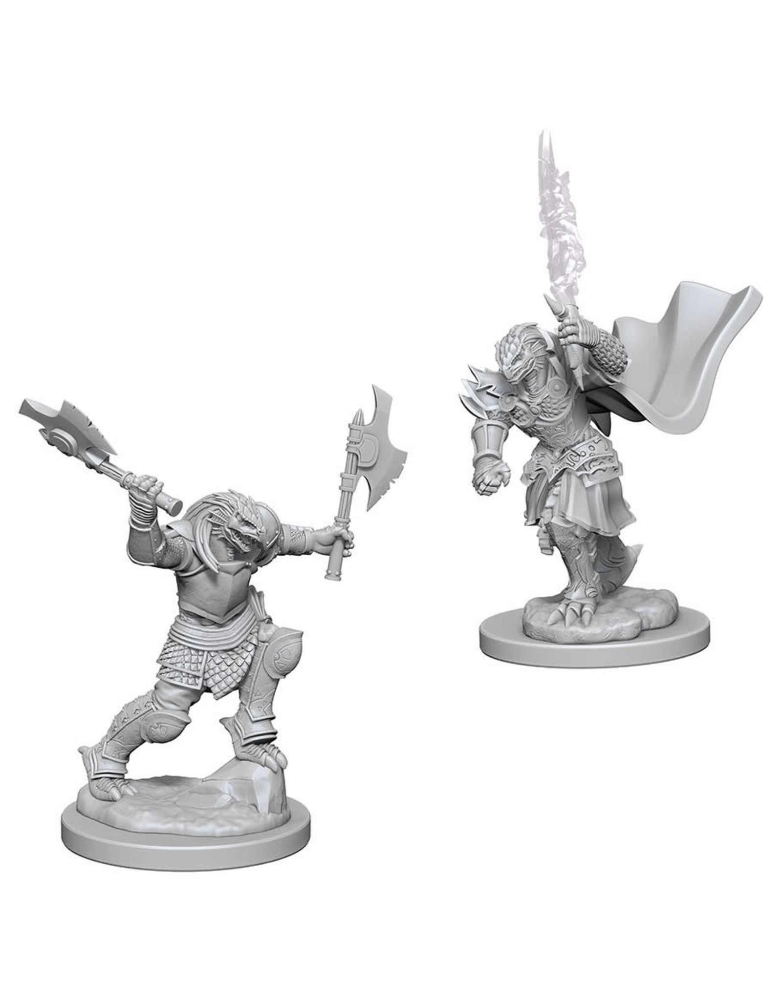 WizKids D&D Minis (unpainted) Dragonborn  Fighter (female) Wave 4, 73199