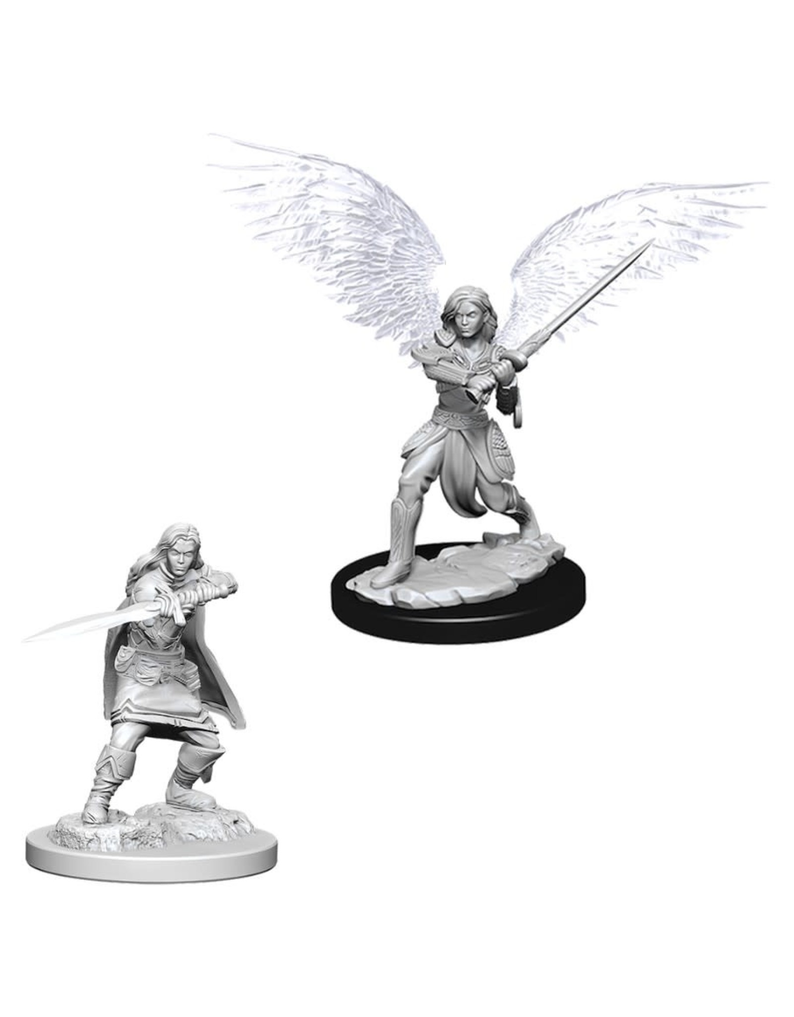 WizKids D&D Minis (unpainted): Aasimar Fighter (female) Wave 6, 73381