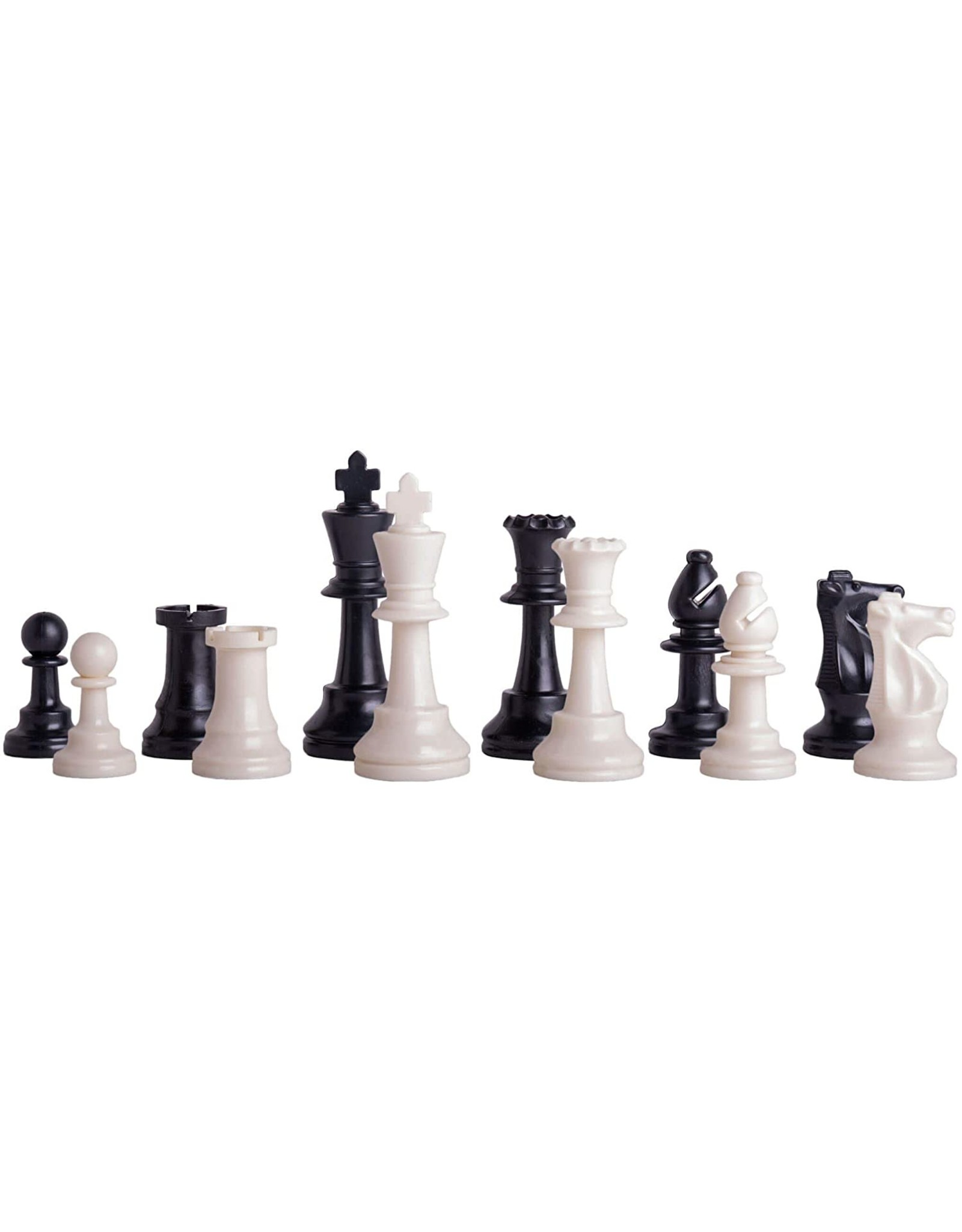 Worldwise Imports Triple Weight Plastic Tournament Chess Pieces - 3.75 Inches