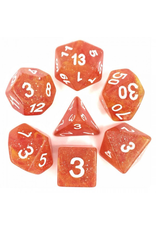 HD Dice Dice: 7-Set Galaxy Yellow Red with White Numbers (HD)