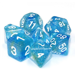HD Dice 7-Set Galaxy Blue Yellow w/ White (HD)