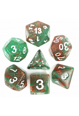 HD Dice Dice: 7-Set Galaxy Red Green with White Numbers (HD)
