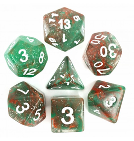 HD Dice 7-Set Galaxy Red Green w/ White (HD)