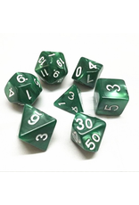 HD Dice Dice: 7-Set Pearl Green with White Numbers (HD)